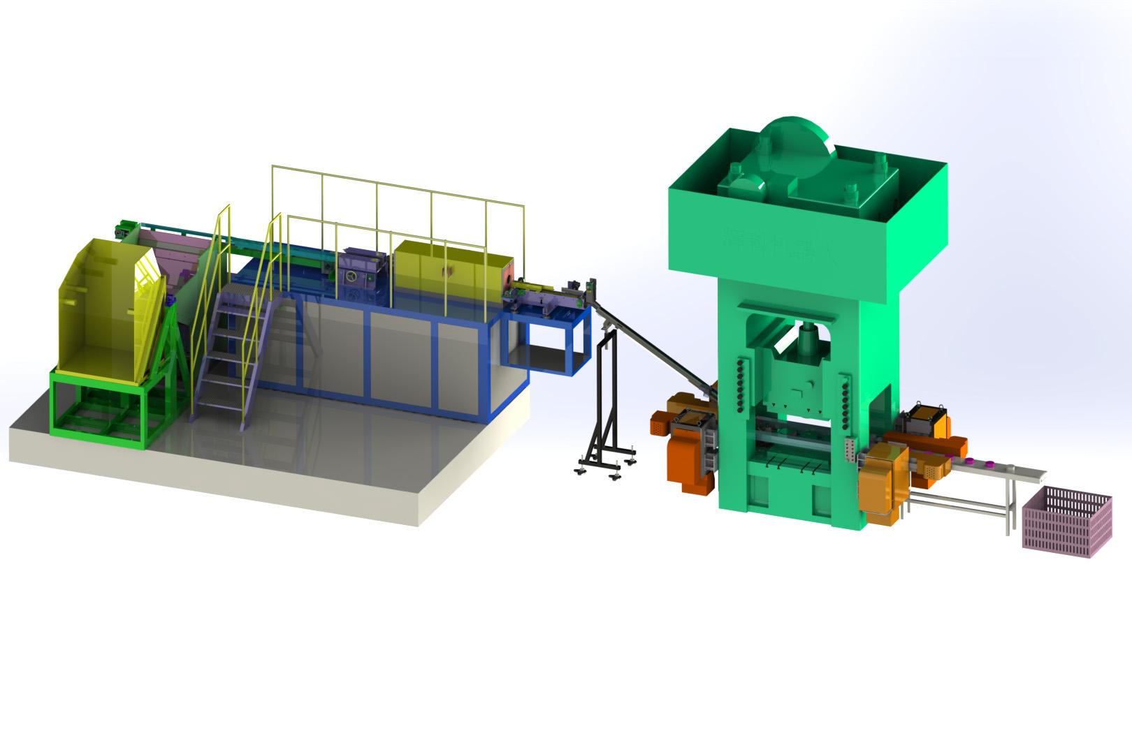 齿轮自动化锻造机械手生产线典型工艺